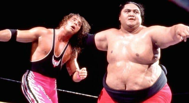 Yokozuna and Bret Hart in the ring
