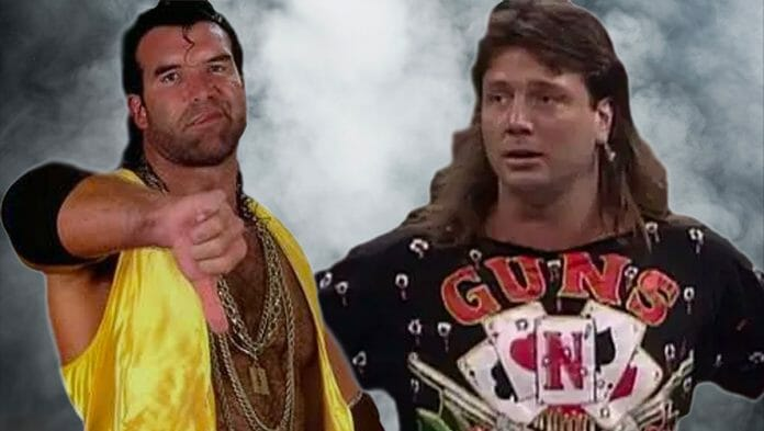 Scott Hall and Marty Jannetty - Their Barbaric Backstage Fight