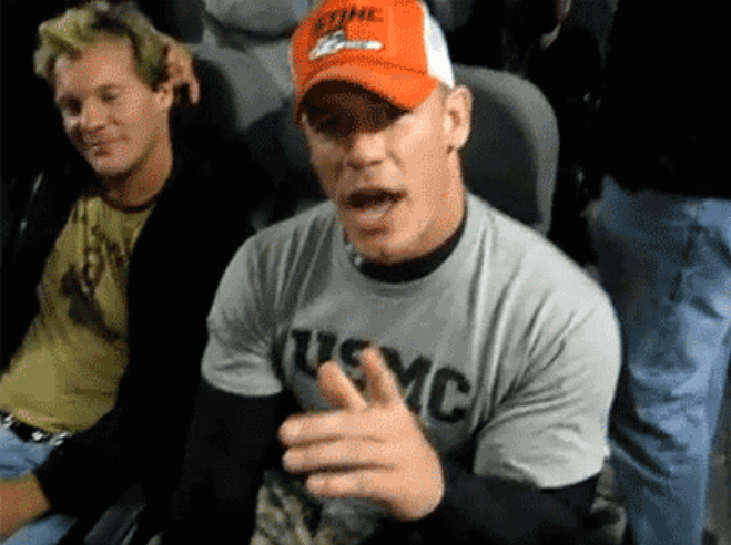 John Cena with Chris Jericho sitting together on an airplane