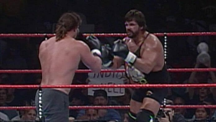 Bart Gunn faces off against 'Dr. Death' Steve Wiliams, the projected winner of the WWE shootfighting tournament that took place in 1998.