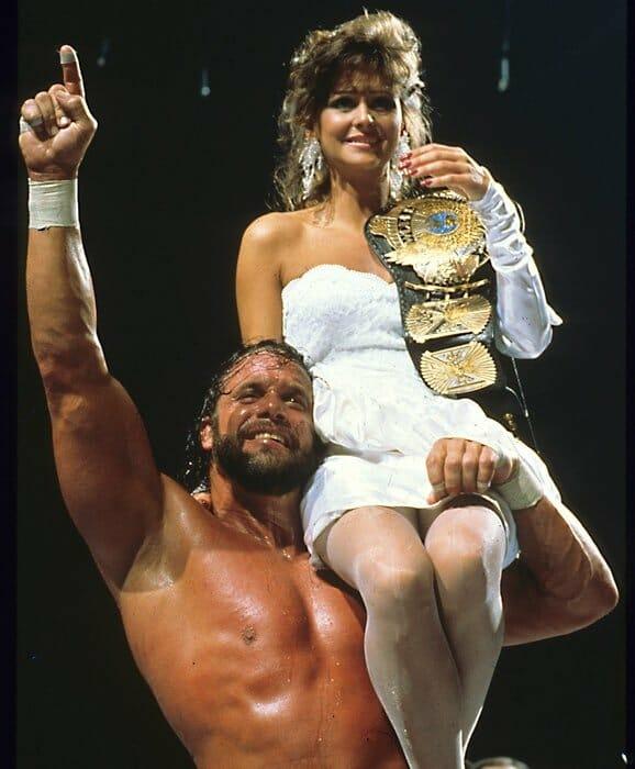 """Macho Man"" Randy Savage with then-wife Elizabeth Ann Hulette, known best to wrestling fans as Miss Elizabeth."