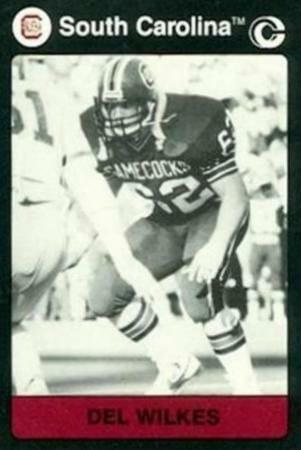 Football Card of Del Wilkes at South Carolina