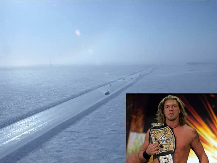 Graphic of a snow covered road with Edge overlayed in the corner holding a title belt