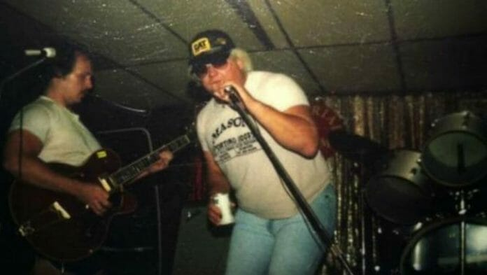 Dusty Rhodes showcasing his talent unbeknownst to some - singing! [Photo source: u/ConvenientAmnesia on Reddit]