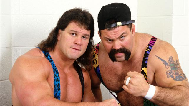 The Steiner Brothers posing with fists up