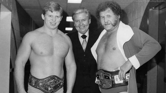 Bob Backlund, Vince McMahon Sr. and Harley Race backstage