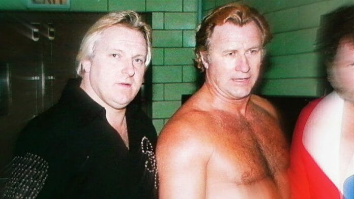 Bobby Heenan with the late Nick Bockwinkel in 1975