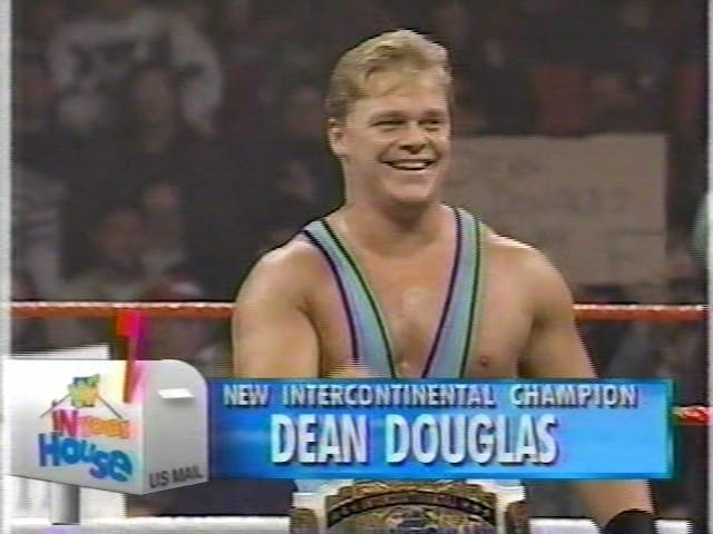Shane Douglas after winning his 11 minute title after Kliq member Shawn Michaels forfeits