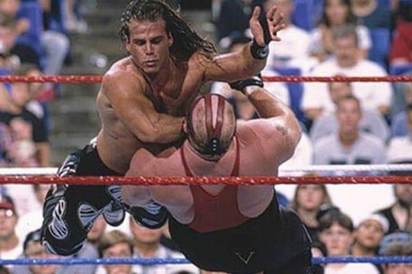 Kliq member Shawn Michaels and Vader at SummerSlam '96