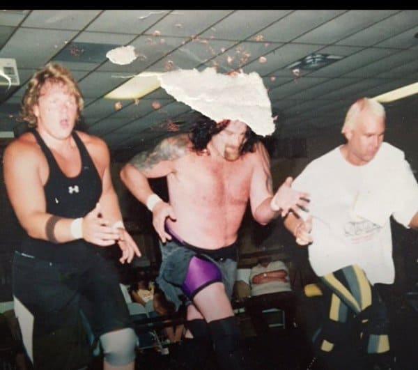 Jonny, Balls Mahoney, and Chris Candido struttin' their stuff