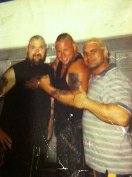 Chris Candido with close friends Bam Bam Bigelow and Paulie B at Bam Fest.