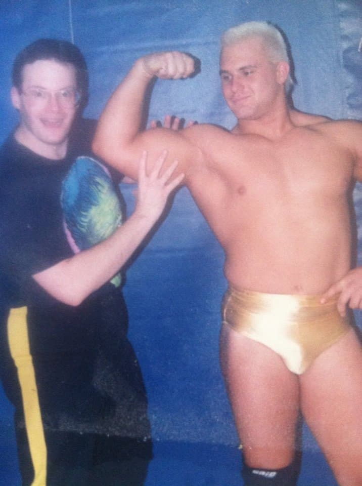 Chris Candido with someone he had incredible respect for, Jim Cornette.