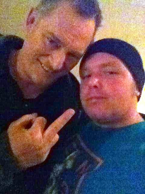 A recent photo of Jonny Candido with ECW legend, Sandman.