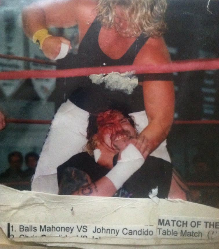 Jonny Candido and Balls Mahoney used to slug it out to the point where things would get ugly - not just in the ring!