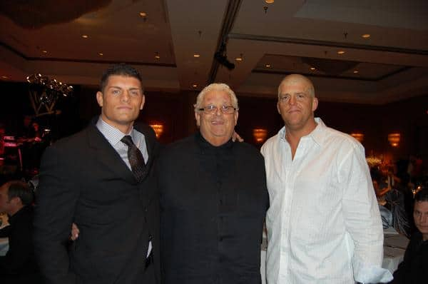 Dusty Rhodes with his sons Cody and Dustin