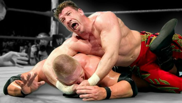 Eddie Guerrero and Brock Lesnar put on a match of a lifetime at the Cow Palace on February 15th, 2004's No Way Out pay-per-view.