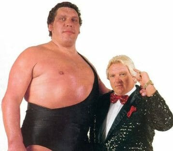 Andre the Giant with Bobby 'The Brain' Heenan