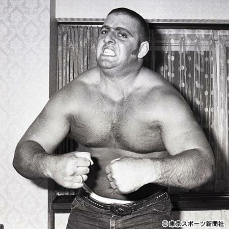 What Ric Flair looked like before the plane crash, Japan, 1973 posing down to show off his muscles