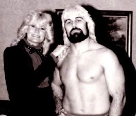 Valet Brenda Britton and Hustler Rip Rogers, circa early 1980s, when Rogers was feuding with Southeastern Wrestling champion Austin Idol.