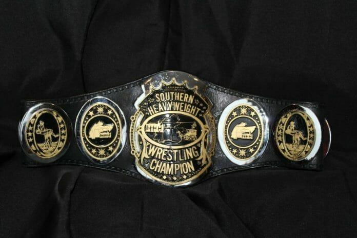 Black and Gold Southern Heavyweight Champion Title Belt