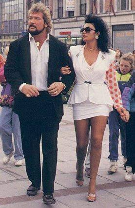 Ted DiBiase and Sherri Martel in Dublin, Ireland.