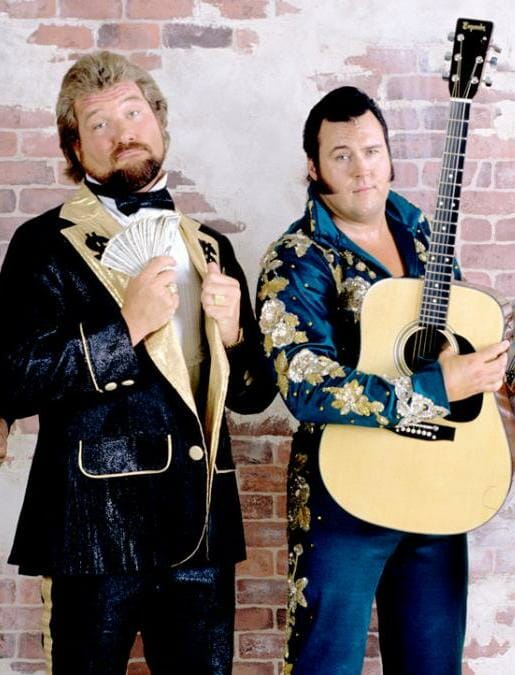 Ted DiBiase with the Honky Tonk Man.