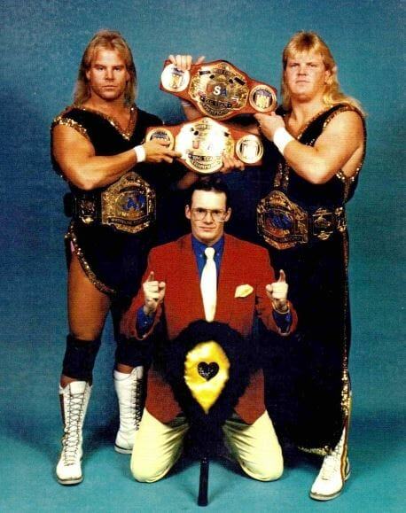 The best-known version of the Midnights: Sweet Stan Lane, Beautiful Bobby Eaton, and Jim Cornette.