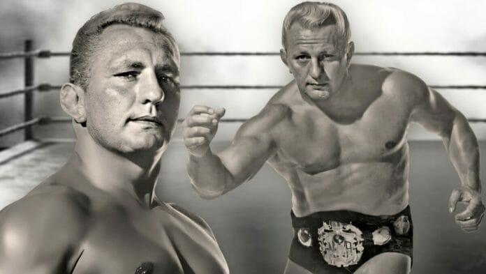 """""""Nature Boy"""" Buddy Rogers as the NWA World Heavyweight Champion. Rogers was a seminal influence in today's entertainment product, as well as being the star that drove a major wedge between the NWA and Vincent J. McMahon."""