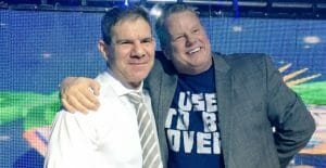 Bruce Prichard and Dave Meltzer, smiling for the cameras