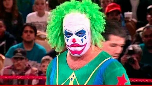 Matt Borne during his run as the evil Doink The Clown in the WWF in 1993