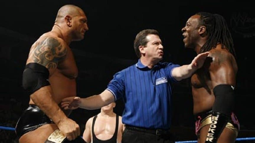 Kurt Angle Recalls Backstage Fight between Booker T and Batista