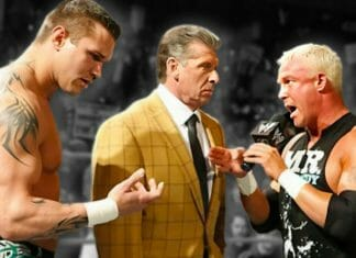 Randy Orton, Vince McMahon, and Mr. Kennedy.