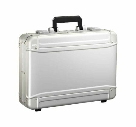 Halliburton Brief Case silver with a black handle