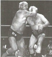 Dick the Bruiser and Ray Stevens [Photo courtesy of Mike Lano]