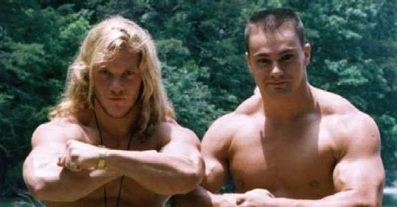 A young Chris Jericho and Lance Storm got their wrestling star as 'The Thrill Seekers' (1994)