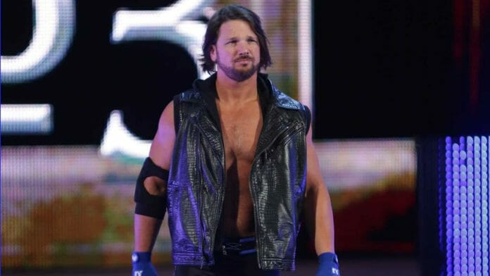AJ Styles theme music and his debut at WWE's 2016 Royal Rumble in a black leather vest [Photo courtesy of WWE.com]