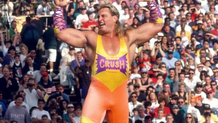 Wrestler Brian Adams as Kona Crush at April 4, 1993's WrestleMania 9 pay-per-view at Caesars Palace, Nevada.