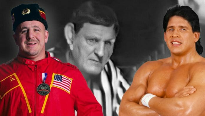 Wrestling legends Nikolai Volkoff, Walter Kowalski, and Tito Santana. Before his passing, Walter Kowalski would write stories about his time in the wrestling business. In one stand-out memoir, he shared a side not often known about his good friend Nikolai Volkoff. One tale involving Tito Santana, in particular, will have you thanking your good graces that you don't have a Mr. Fuji-type in your friendship circle!