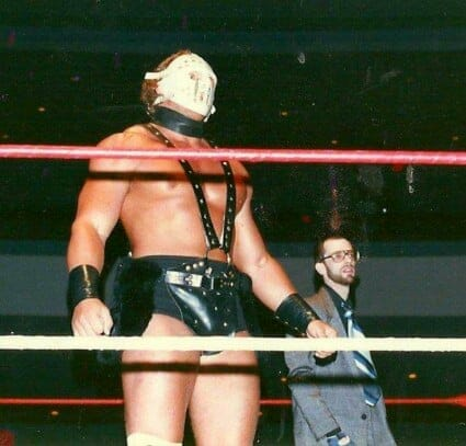 Sid Vicious started off his career in Continental Championship Wrestling (CCW) in 1987, under a mask and the name Lord Humungous. He would use this gimmick until 1988 when he adopted the name Sid Vicious during his brief stint in World Class Championship Wrestling (WCCW). [Photo courtesy of nightflight.com]