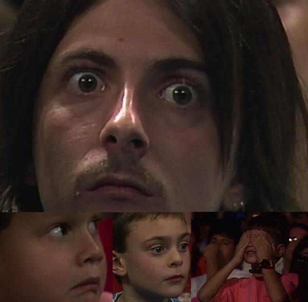 The Undertaker's First Year in WWE - Fans react in fear to Undertaker's debut at Survivor Series 1990 [photos captured from the WWE Network]