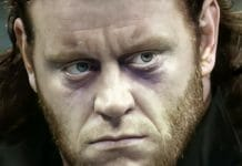 The Undertaker moments after his on-camera debut on November 22nd, 1990, at Survivor Series 1990.