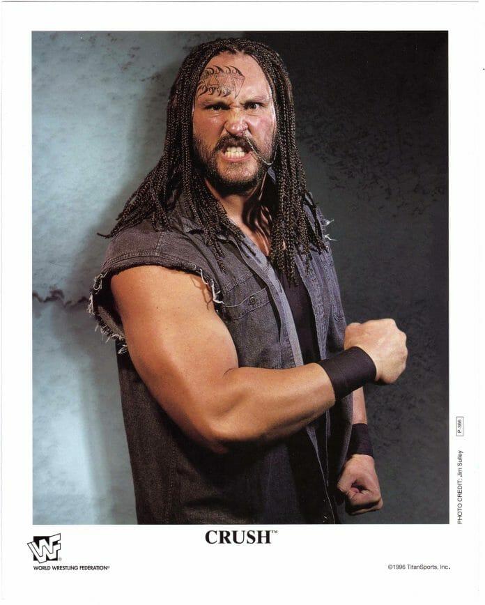 Wrestler Brian Adams Jailbird Crush in a 1996 promo photo