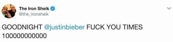 The Iron Sheik hates Justin Bieber