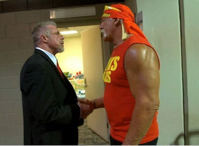 The Iron Sheik -- The Ultimate Warrior shakes hands with Hulk Hogan after claiming he would never shake hands with him again