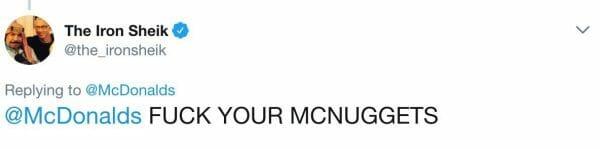 The Iron Sheik has disdain towards McNuggets