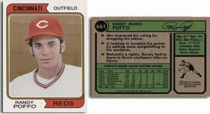 A fan-made Randy Poffo baseball card