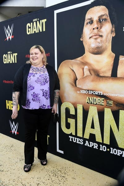 Andre the Giant's daughter Robin Christensen Roussimoff at the HBO Andre the Giant documentary premiere