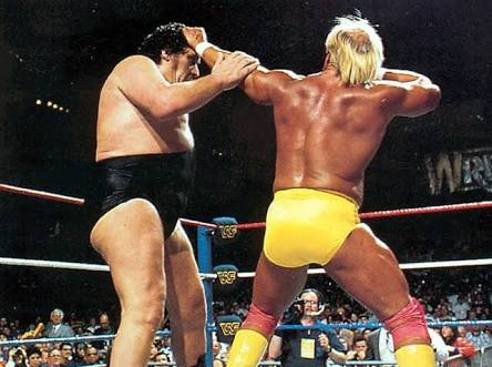 Andre the Giant Documentary | 12 Things Learned (And Facts Left Out!) - Andre being punched by Hulk Hogan in the ring at WrestleMania
