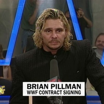 Brian Pillman at his WWF signing