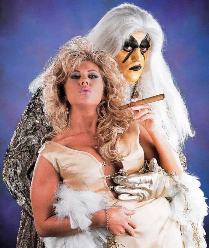 Goldust with ex-wife and former manager, Terri Runnels aka Marlena